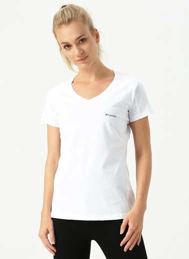 Columbia Columbia CS0014 Zero Rules Ss Kadın    T-Shirt Beyaz